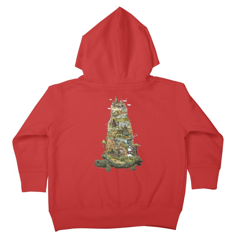 THE TORTOISE. Kids Toddler Zip-Up Hoody by Dustin Harbin's Sweet T's!