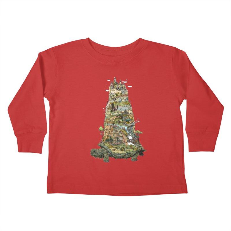THE TORTOISE. Kids Toddler Longsleeve T-Shirt by Dustin Harbin's Sweet T's!
