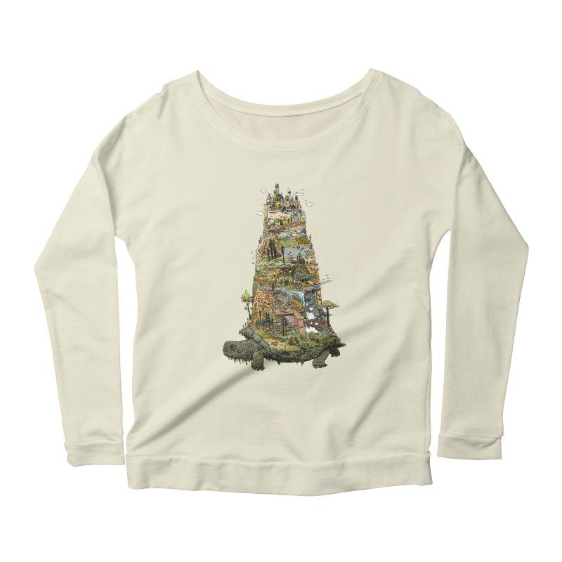 THE TORTOISE. Women's Scoop Neck Longsleeve T-Shirt by Dustin Harbin's Sweet T's!