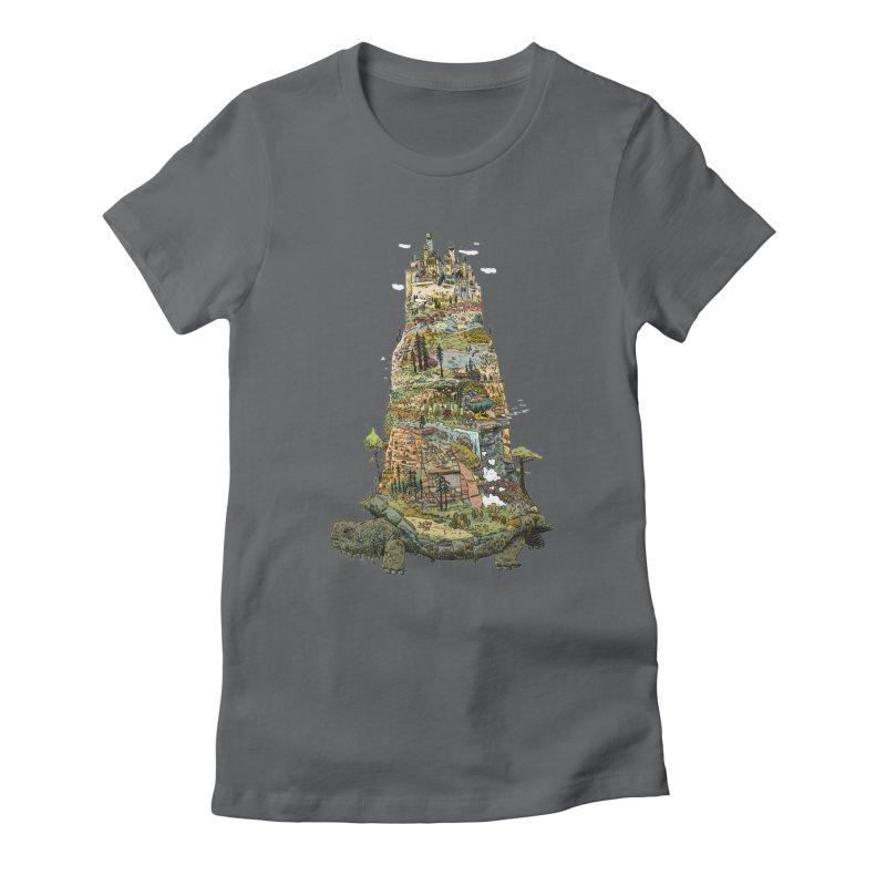 THE TORTOISE. Women's Fitted T-Shirt by Dustin Harbin's Sweet T's!