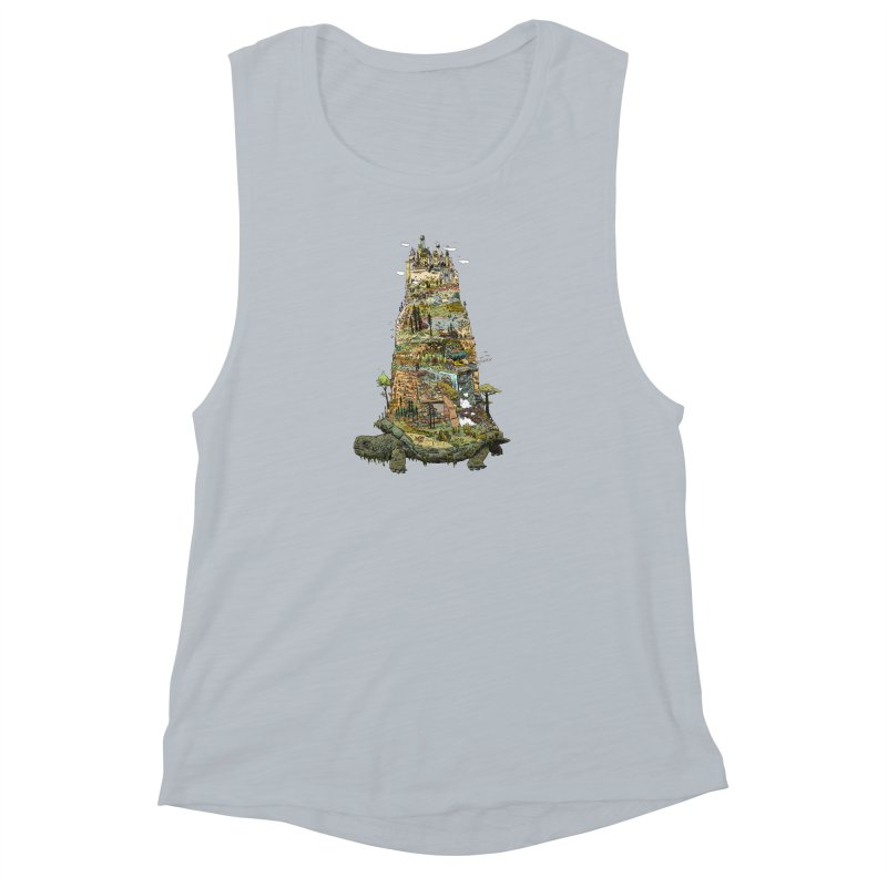THE TORTOISE. Women's Muscle Tank by Dustin Harbin's Sweet T's!