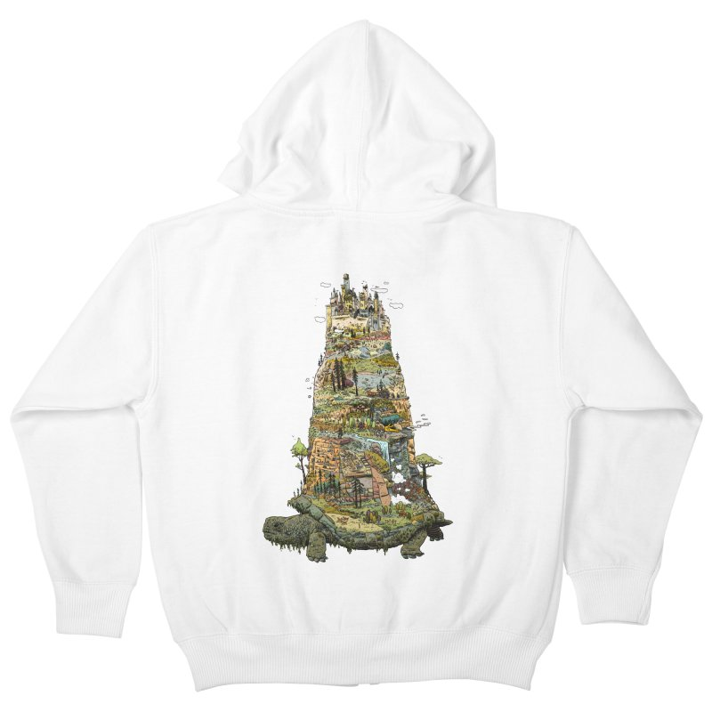 THE TORTOISE. Kids Zip-Up Hoody by Dustin Harbin's Sweet T's!
