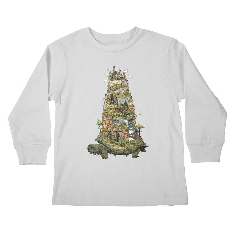 THE TORTOISE. Kids Longsleeve T-Shirt by Dustin Harbin's Sweet T's!