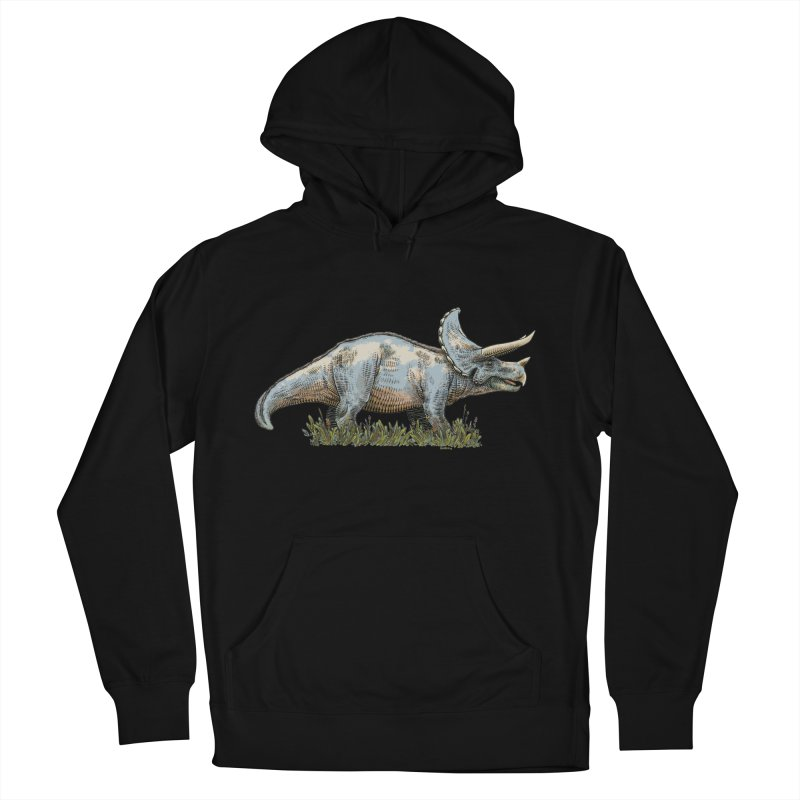 BEHOLD! THE TRICERATOPS! Women's French Terry Pullover Hoody by Dustin Harbin's Sweet T's!