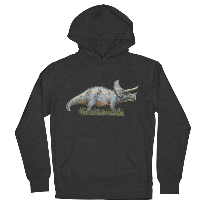 BEHOLD! THE TRICERATOPS! Men's French Terry Pullover Hoody by Dustin Harbin's Sweet T's!