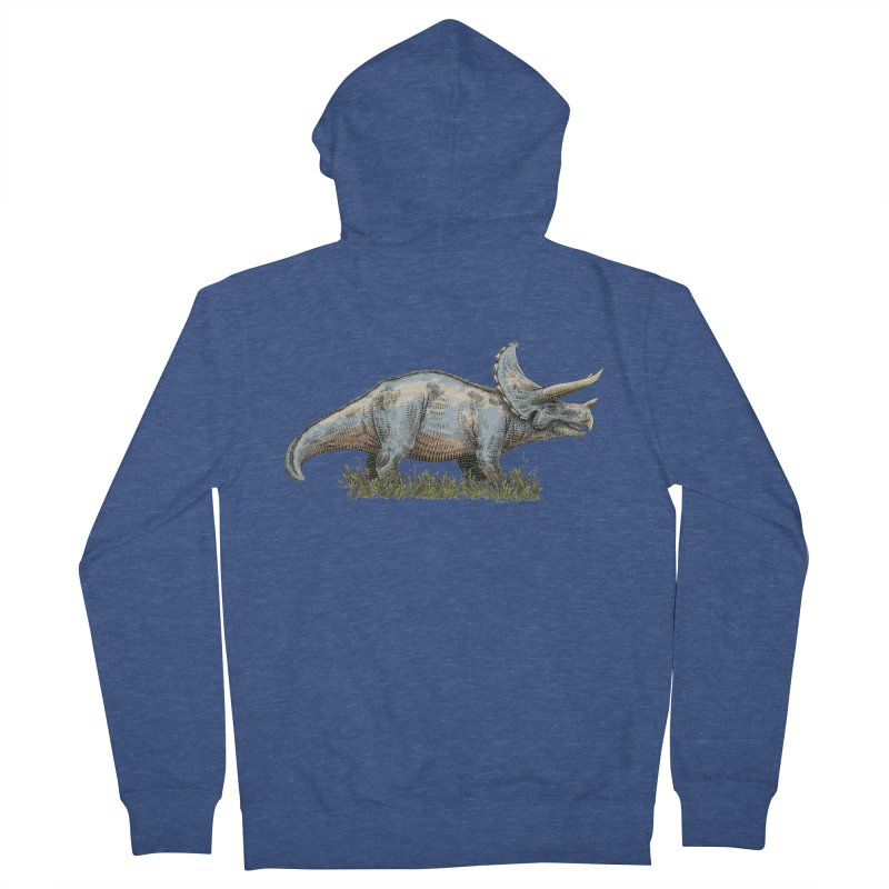 BEHOLD! THE TRICERATOPS! Women's French Terry Zip-Up Hoody by Dustin Harbin's Sweet T's!