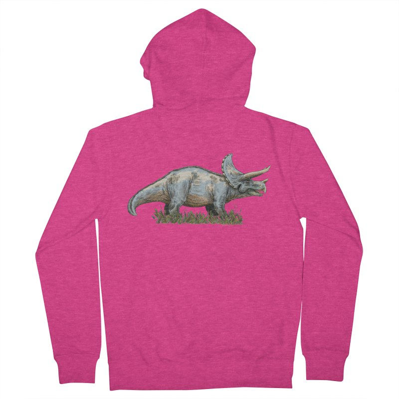BEHOLD! THE TRICERATOPS! Women's Zip-Up Hoody by Dustin Harbin's Sweet T's!