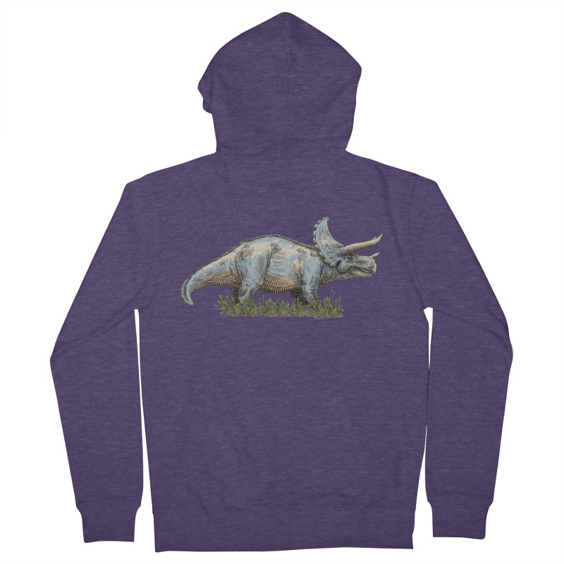 BEHOLD! THE TRICERATOPS! Men's Zip-Up Hoody by Dustin Harbin's Sweet T's!