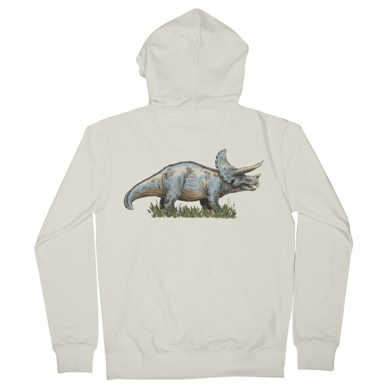 BEHOLD! THE TRICERATOPS! Men's French Terry Zip-Up Hoody by Dustin Harbin's Sweet T's!