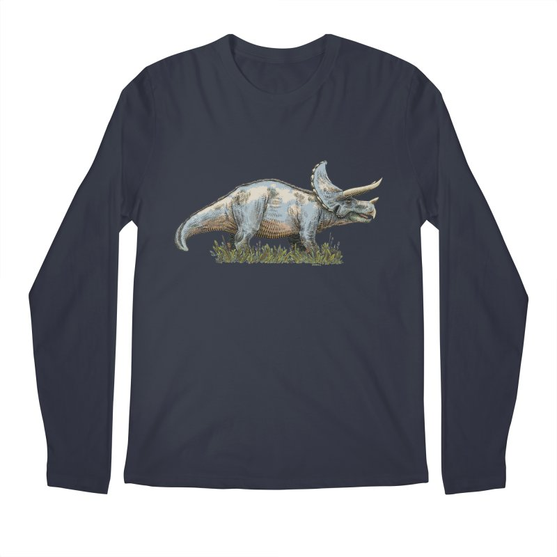 BEHOLD! THE TRICERATOPS! Men's Longsleeve T-Shirt by Dustin Harbin's Sweet T's!