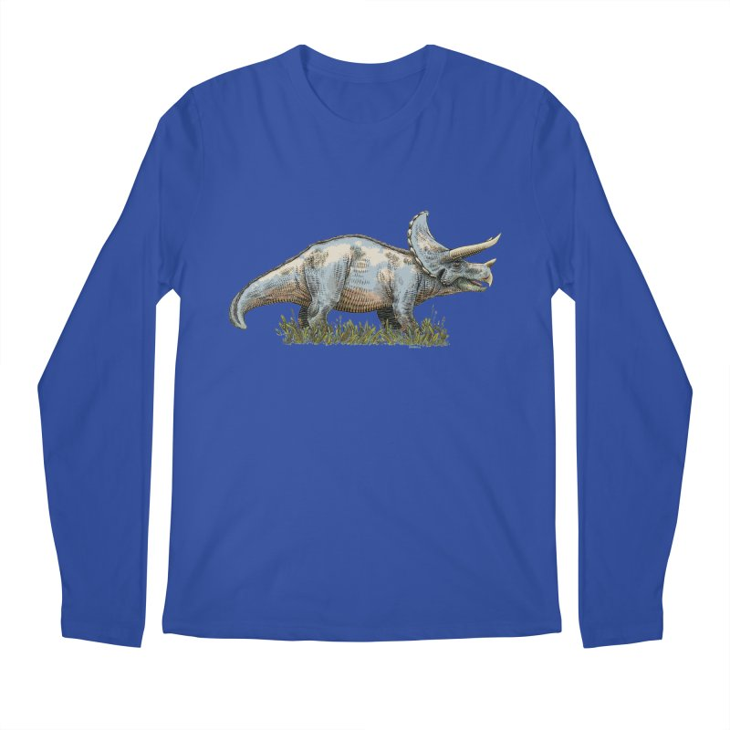 BEHOLD! THE TRICERATOPS! Men's Longsleeve T-Shirt by Dustin Harbin's Sweet T's!