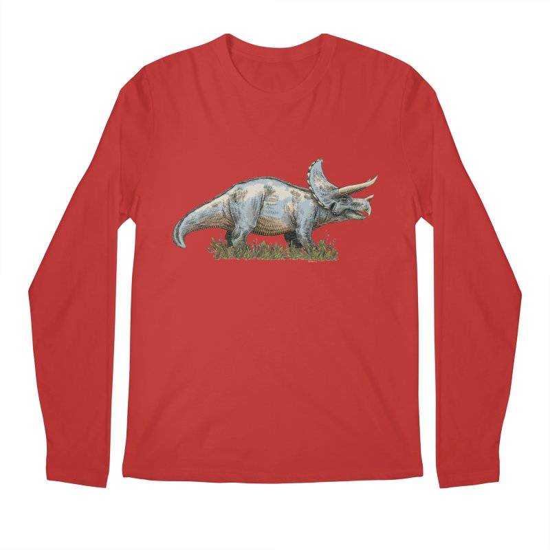 BEHOLD! THE TRICERATOPS! Men's Regular Longsleeve T-Shirt by Dustin Harbin's Sweet T's!