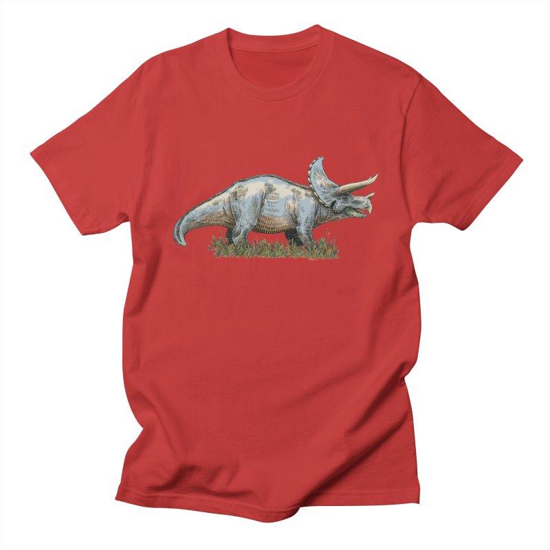 BEHOLD! THE TRICERATOPS! Men's Regular T-Shirt by Dustin Harbin's Sweet T's!