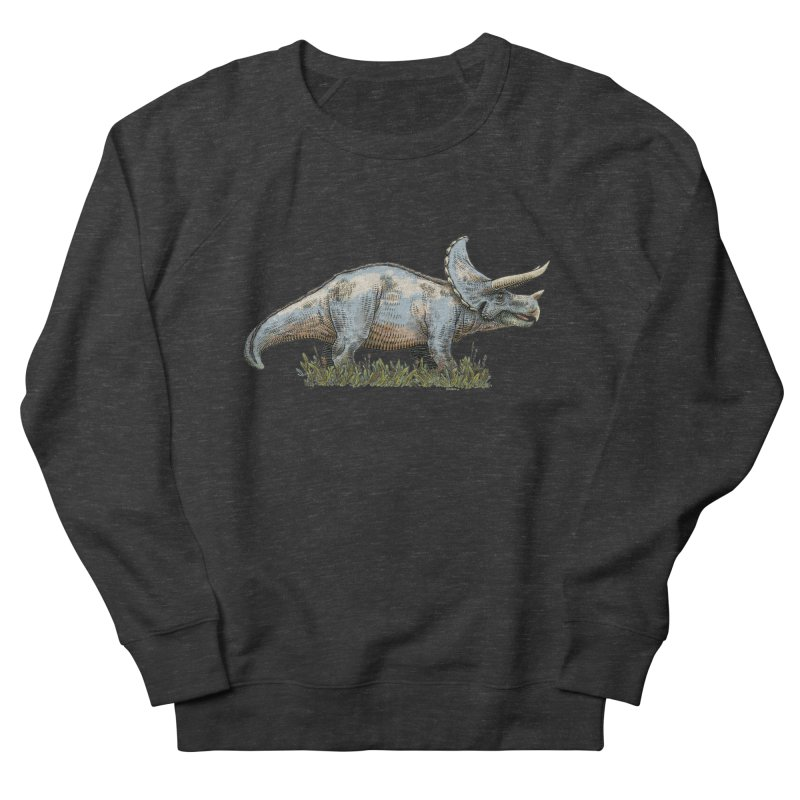 BEHOLD! THE TRICERATOPS! Women's French Terry Sweatshirt by Dustin Harbin's Sweet T's!