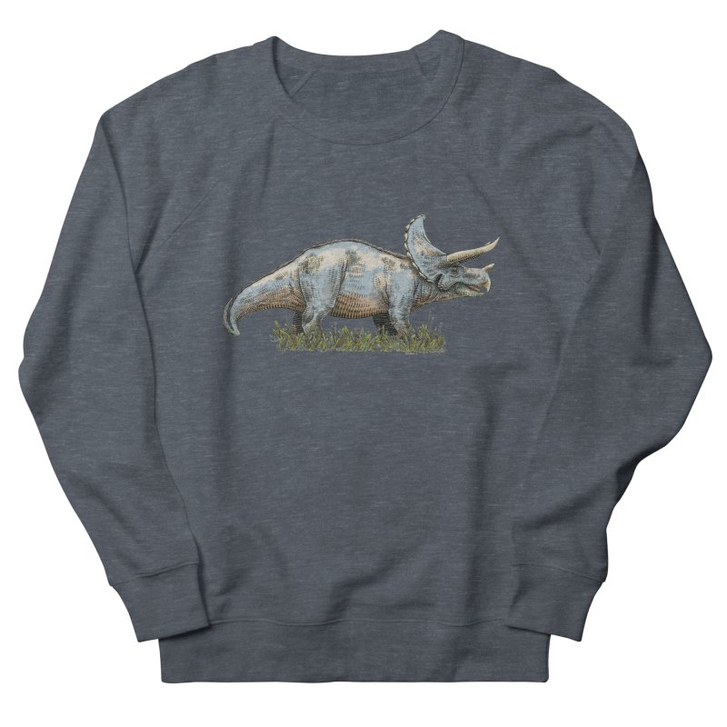 BEHOLD! THE TRICERATOPS! Men's French Terry Sweatshirt by Dustin Harbin's Sweet T's!