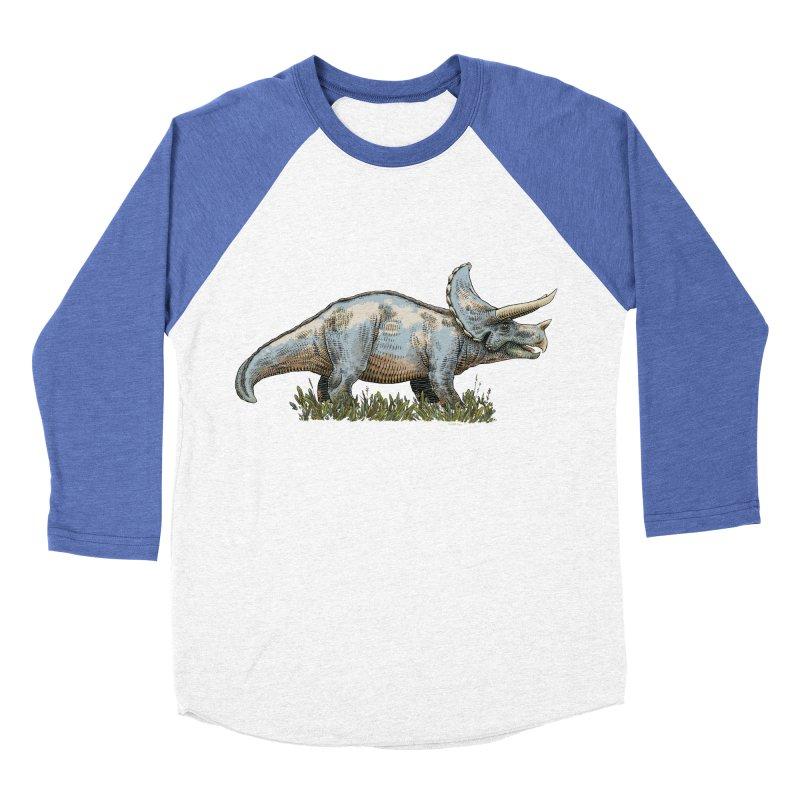 BEHOLD! THE TRICERATOPS! Men's Baseball Triblend Longsleeve T-Shirt by Dustin Harbin's Sweet T's!