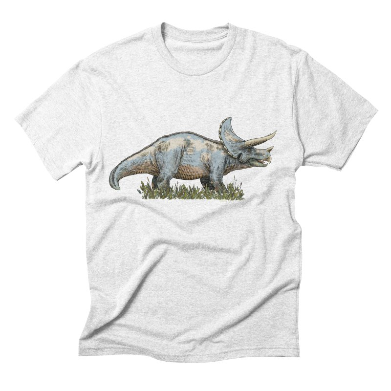 BEHOLD! THE TRICERATOPS! Men's Triblend T-shirt by Dustin Harbin's Sweet T's!