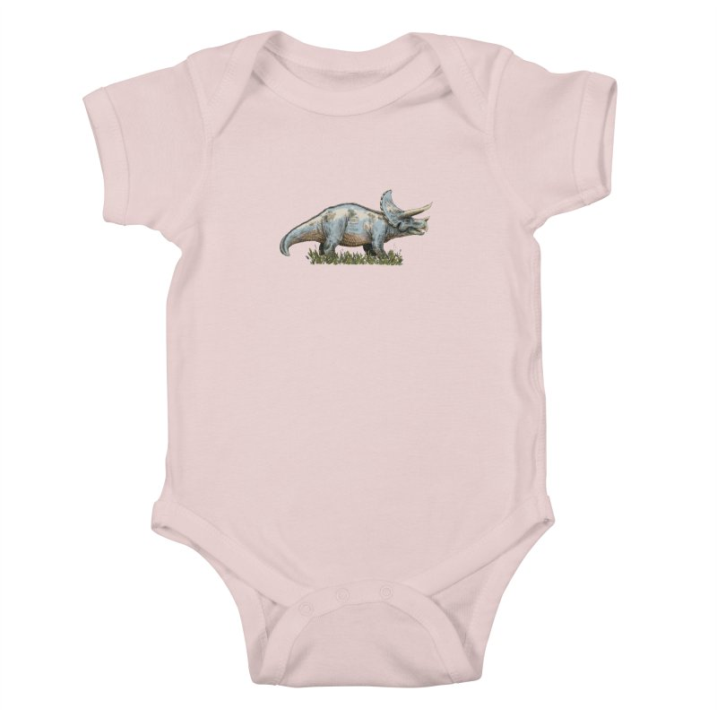 BEHOLD! THE TRICERATOPS! Kids Baby Bodysuit by Dustin Harbin's Sweet T's!