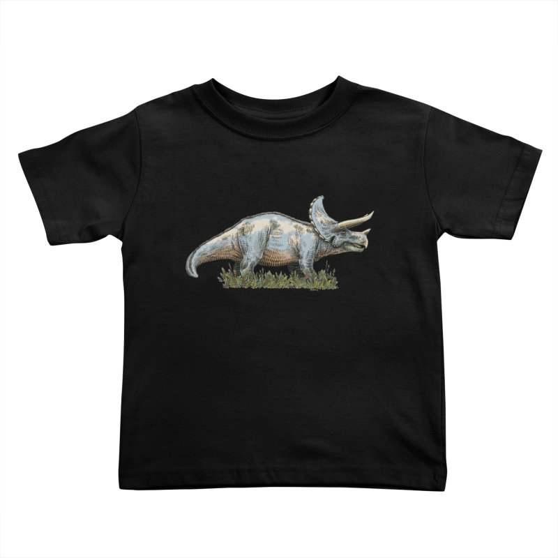 BEHOLD! THE TRICERATOPS! Kids Toddler T-Shirt by Dustin Harbin's Sweet T's!