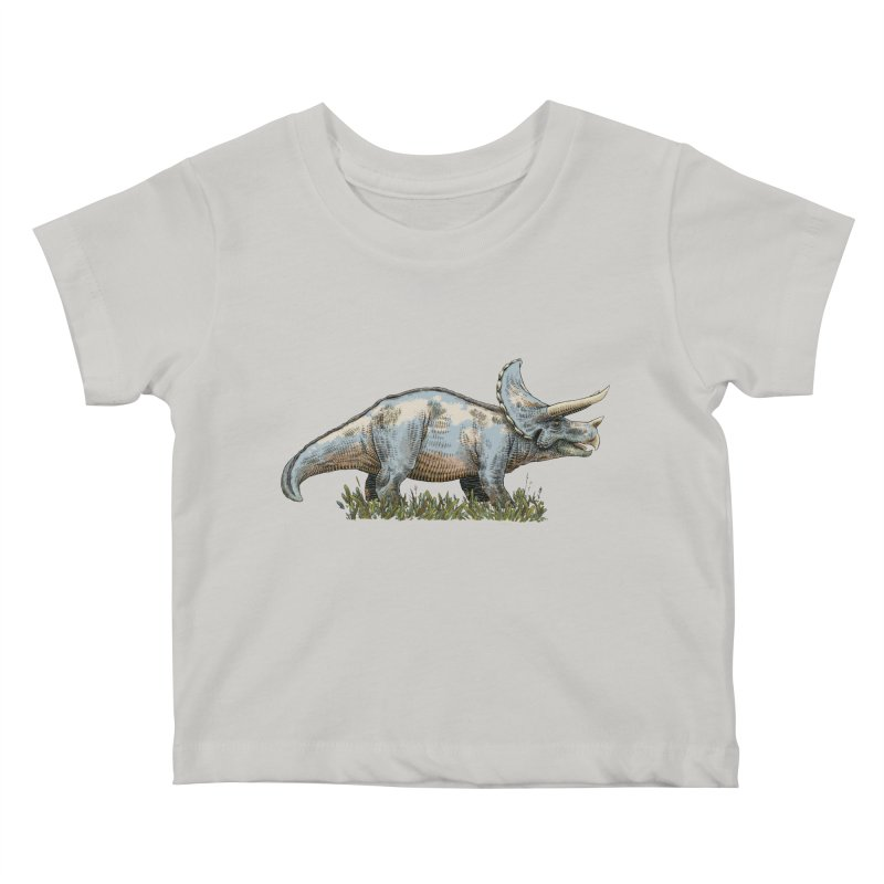 BEHOLD! THE TRICERATOPS! Kids Baby T-Shirt by Dustin Harbin's Sweet T's!