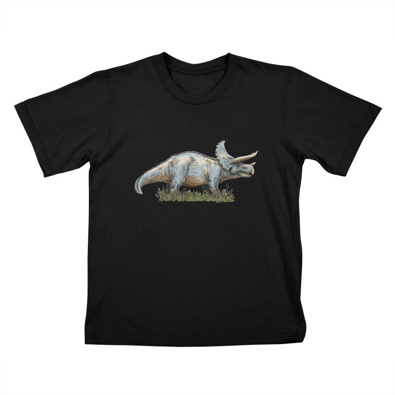 BEHOLD! THE TRICERATOPS! Kids T-Shirt by Dustin Harbin's Sweet T's!