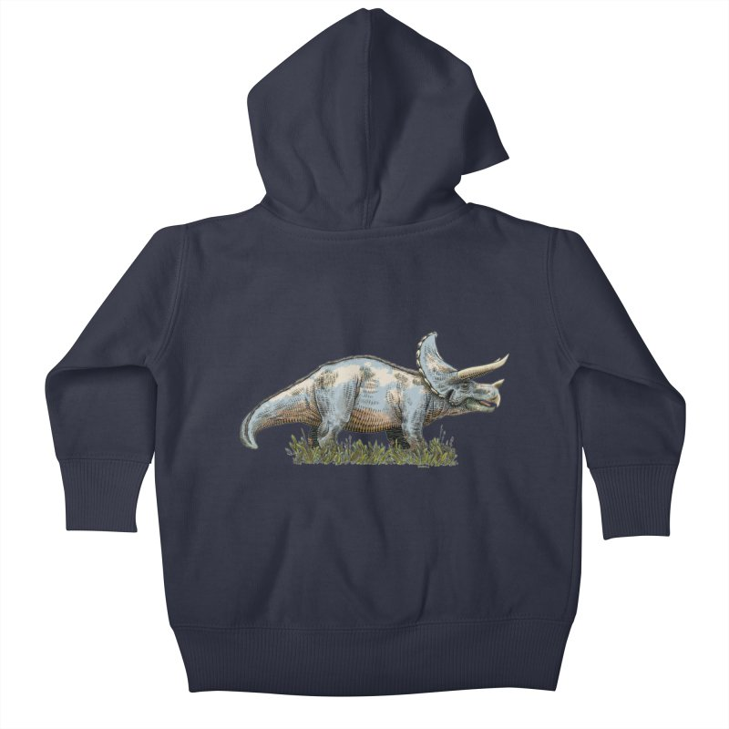BEHOLD! THE TRICERATOPS! Kids Baby Zip-Up Hoody by Dustin Harbin's Sweet T's!