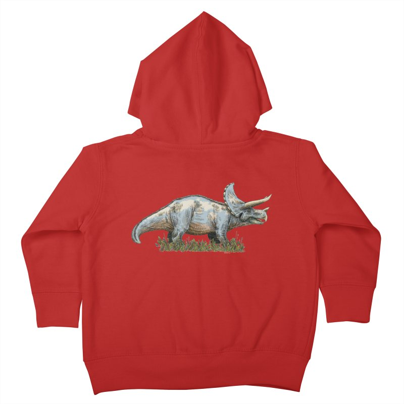 BEHOLD! THE TRICERATOPS! Kids Toddler Zip-Up Hoody by Dustin Harbin's Sweet T's!