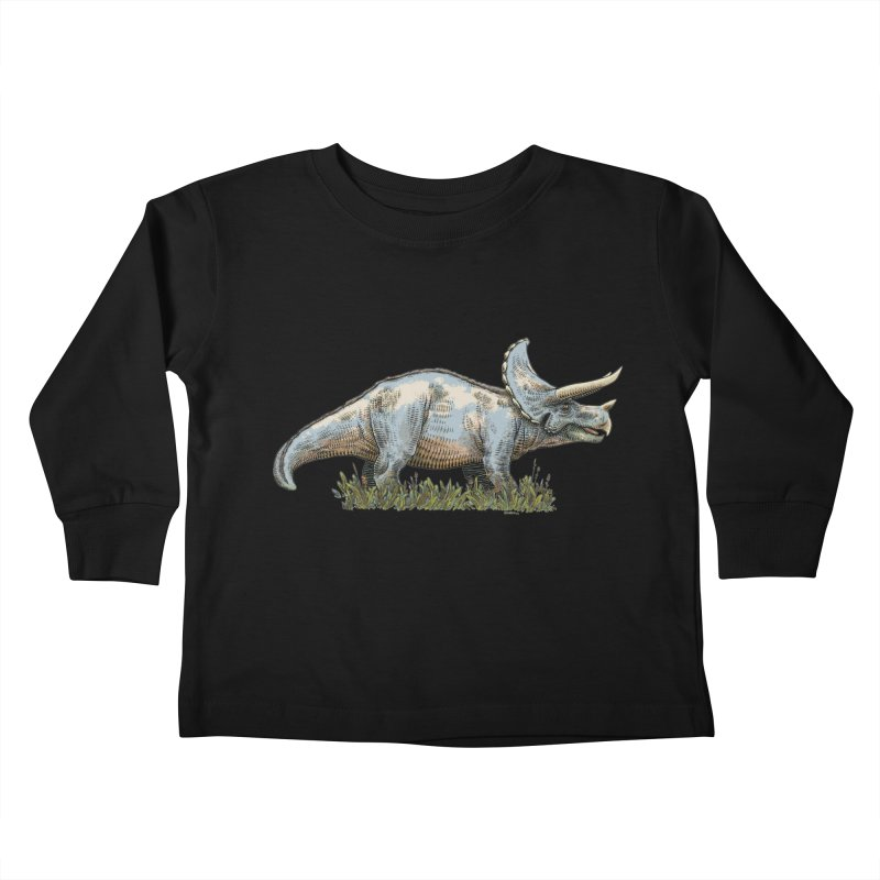 BEHOLD! THE TRICERATOPS! Kids Toddler Longsleeve T-Shirt by Dustin Harbin's Sweet T's!