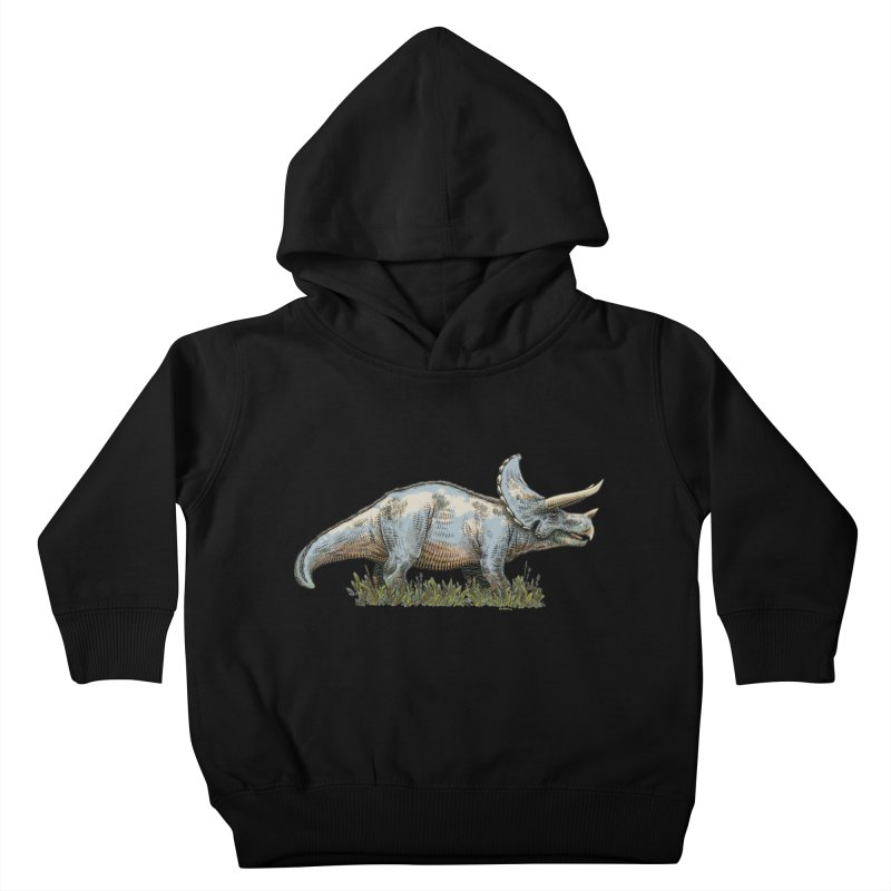 BEHOLD! THE TRICERATOPS! Kids Toddler Pullover Hoody by Dustin Harbin's Sweet T's!