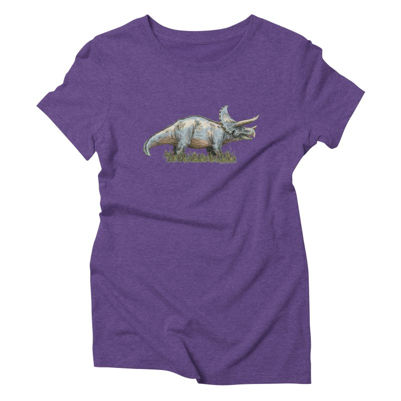 BEHOLD! THE TRICERATOPS! Women's Triblend T-Shirt by Dustin Harbin's Sweet T's!