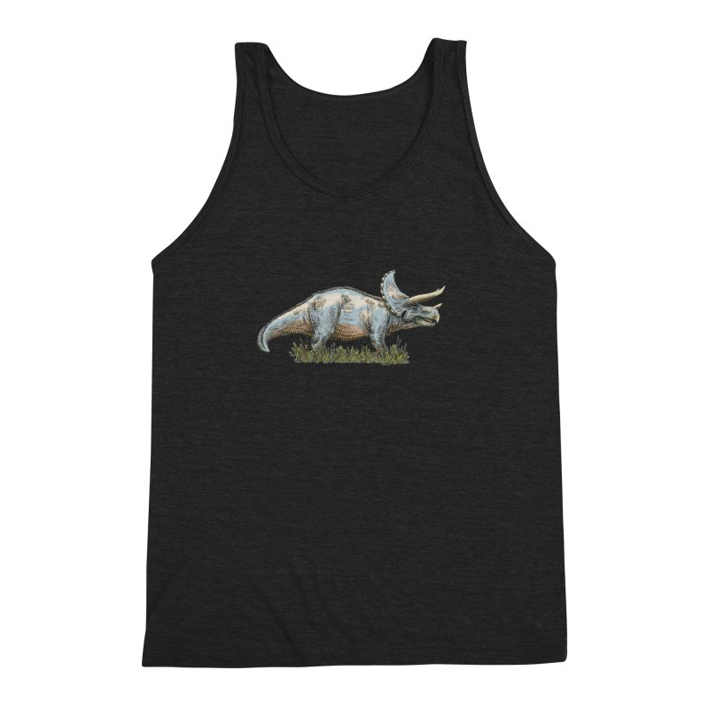 BEHOLD! THE TRICERATOPS! Men's Triblend Tank by Dustin Harbin's Sweet T's!