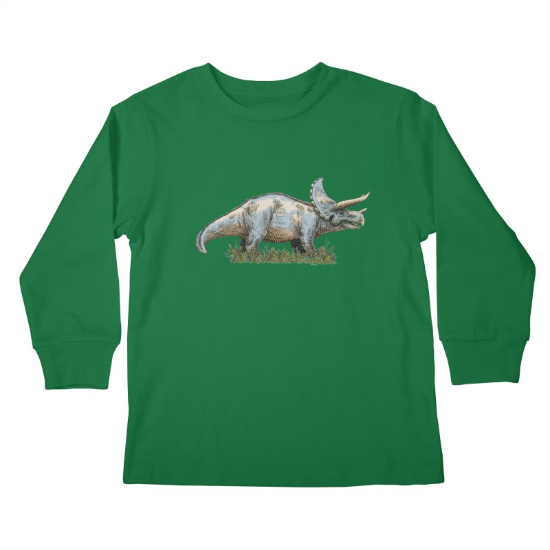 BEHOLD! THE TRICERATOPS! Kids Longsleeve T-Shirt by Dustin Harbin's Sweet T's!