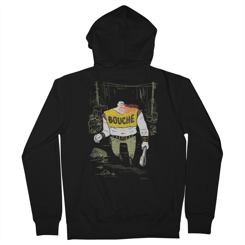 LA BOUCHE! Men's French Terry Zip-Up Hoody by Dustin Harbin's Sweet T's!