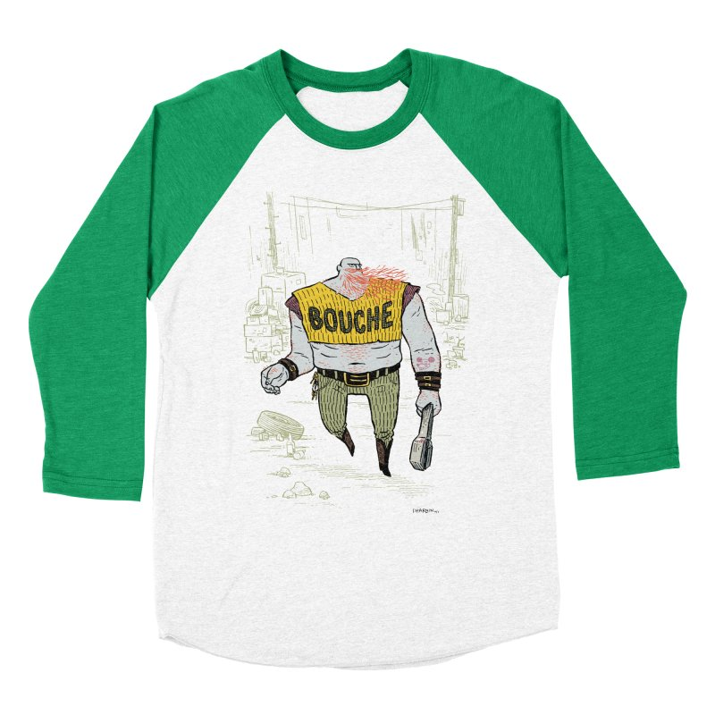 LA BOUCHE! Men's Baseball Triblend Longsleeve T-Shirt by Dustin Harbin's Sweet T's!