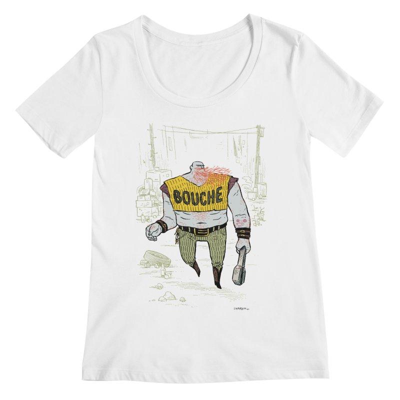 LA BOUCHE! Women's Regular Scoop Neck by Dustin Harbin's Sweet T's!