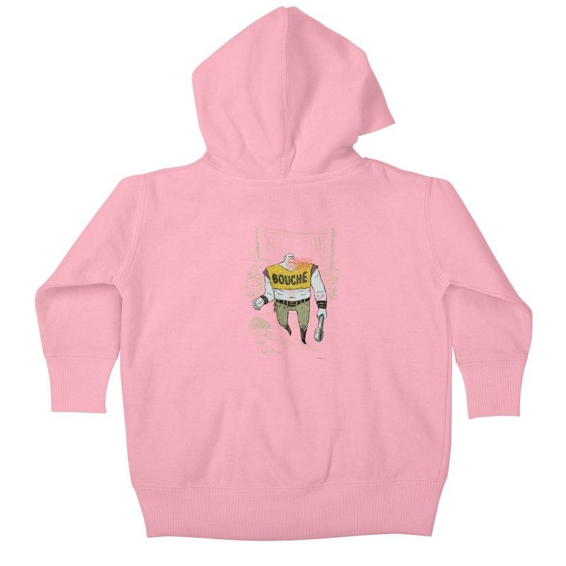 LA BOUCHE! Kids Baby Zip-Up Hoody by Dustin Harbin's Sweet T's!