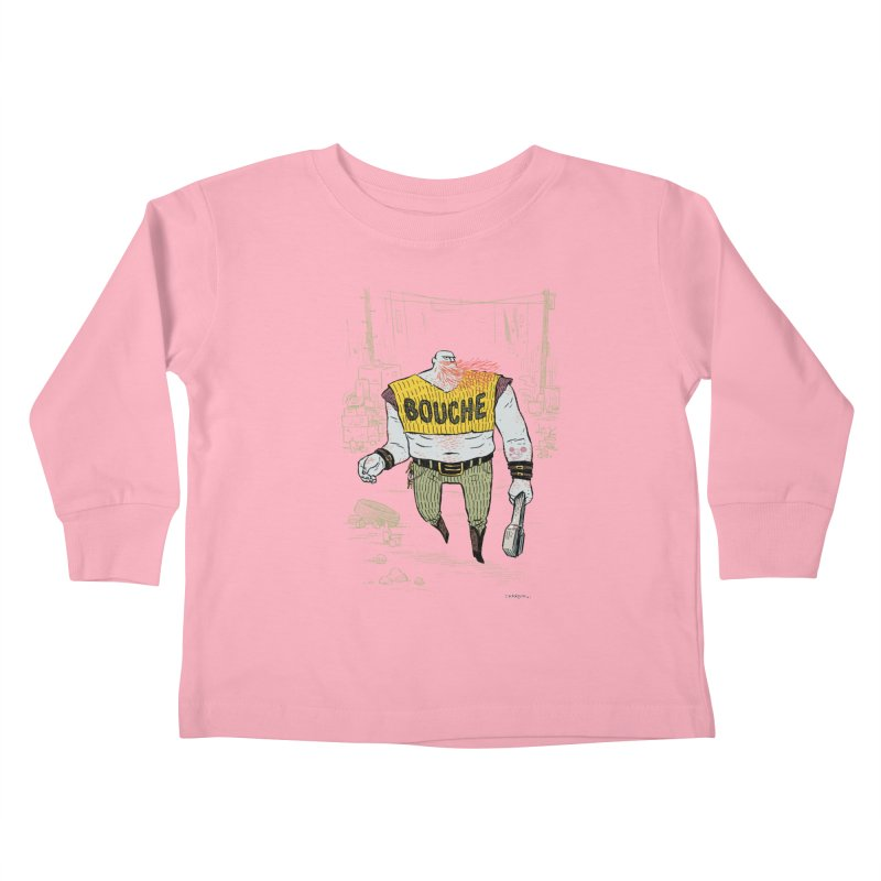 LA BOUCHE! Kids Toddler Longsleeve T-Shirt by Dustin Harbin's Sweet T's!