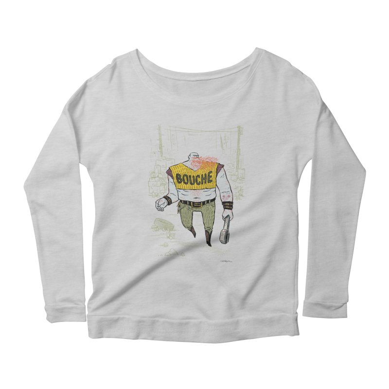 LA BOUCHE! Women's Scoop Neck Longsleeve T-Shirt by Dustin Harbin's Sweet T's!