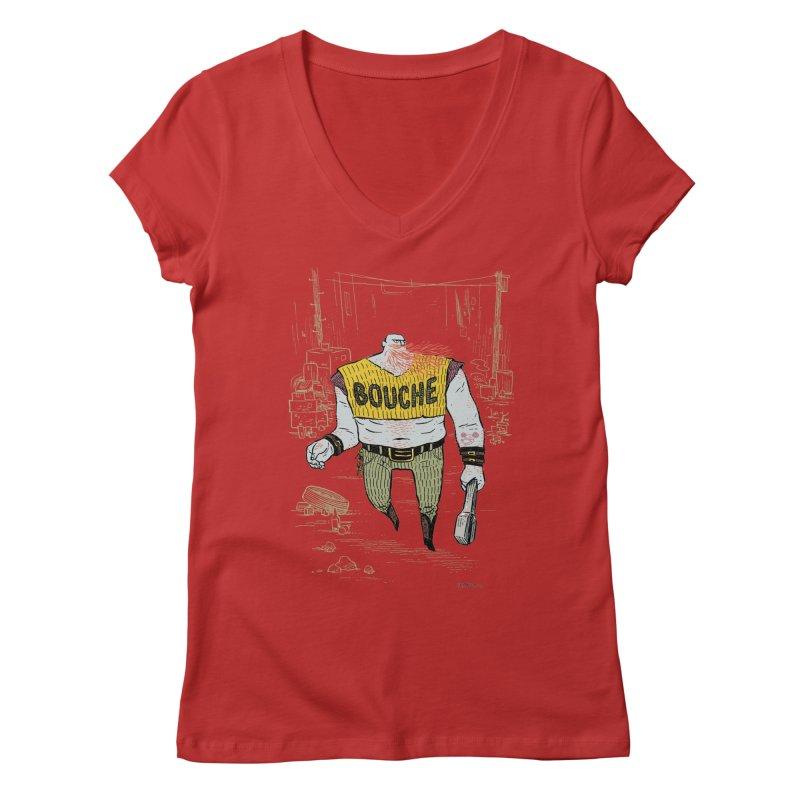 LA BOUCHE! Women's Regular V-Neck by Dustin Harbin's Sweet T's!