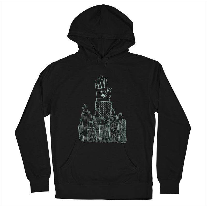 I'M HERE!! (Light Ink For Dark Shirts) Men's French Terry Pullover Hoody by Dustin Harbin's Sweet T's!