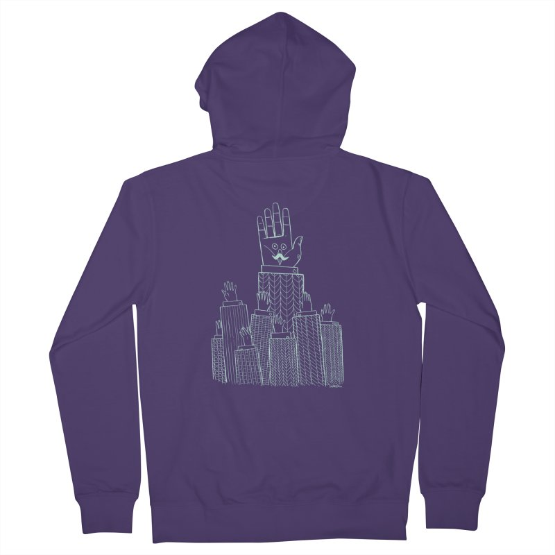 I'M HERE!! (Light Ink For Dark Shirts) Women's French Terry Zip-Up Hoody by Dustin Harbin's Sweet T's!