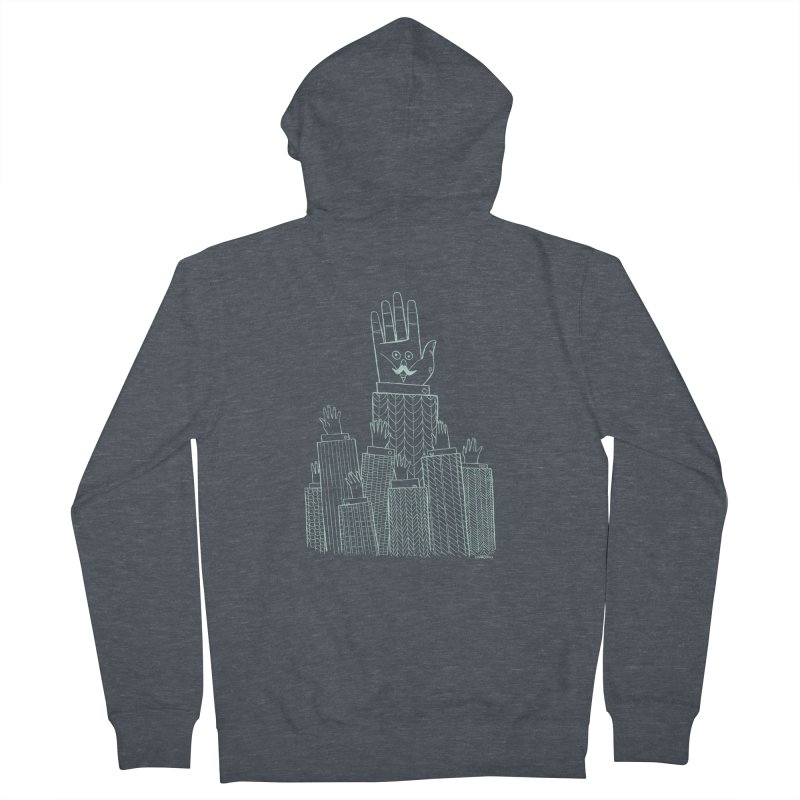 I'M HERE!! (Light Ink For Dark Shirts) Men's Zip-Up Hoody by Dustin Harbin's Sweet T's!