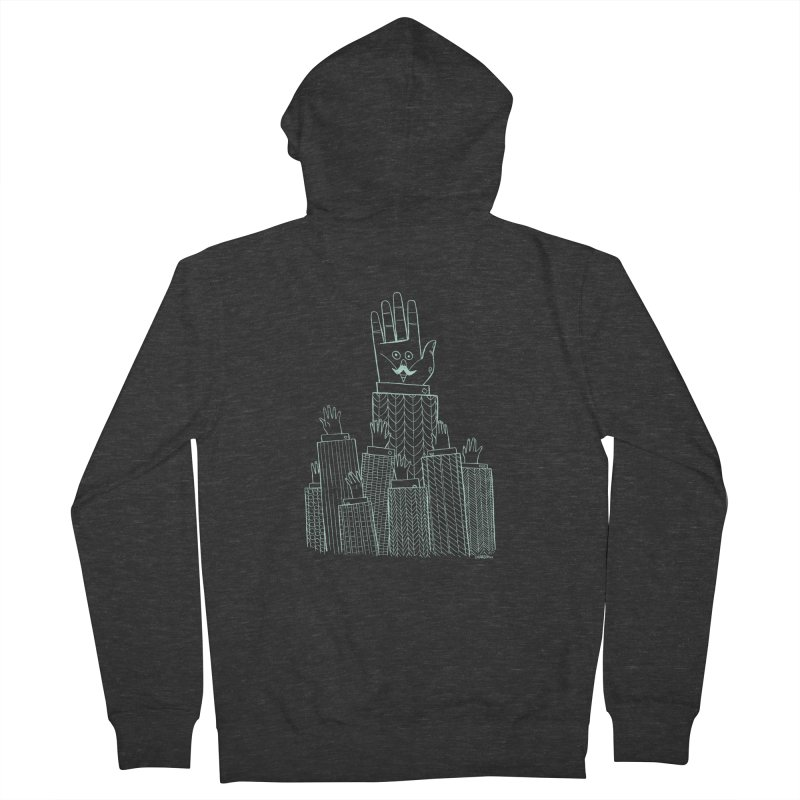 I'M HERE!! (Light Ink For Dark Shirts) Men's French Terry Zip-Up Hoody by Dustin Harbin's Sweet T's!