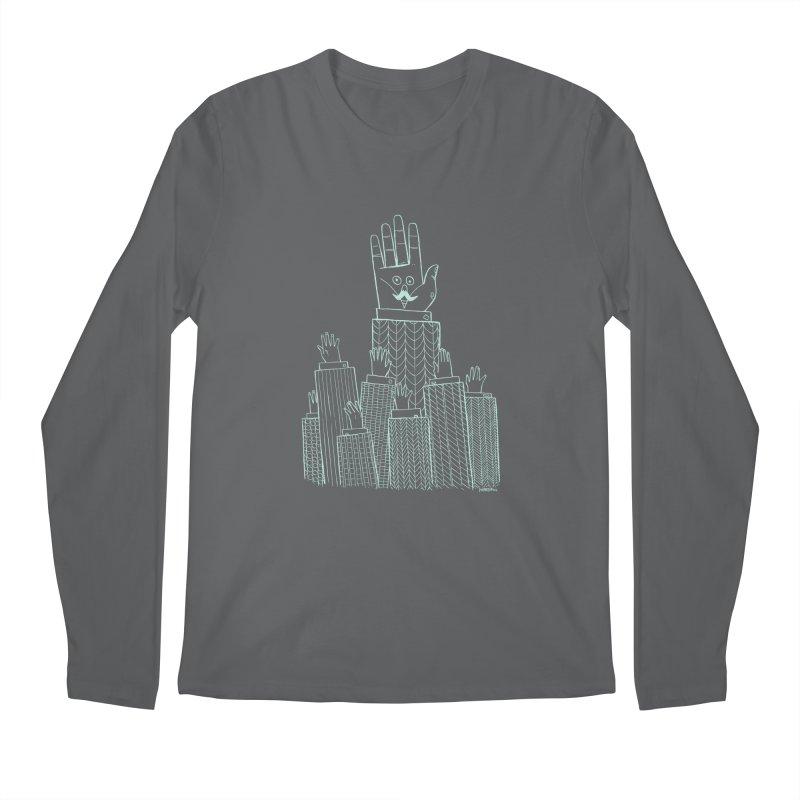I'M HERE!! (Light Ink For Dark Shirts) Men's Longsleeve T-Shirt by Dustin Harbin's Sweet T's!