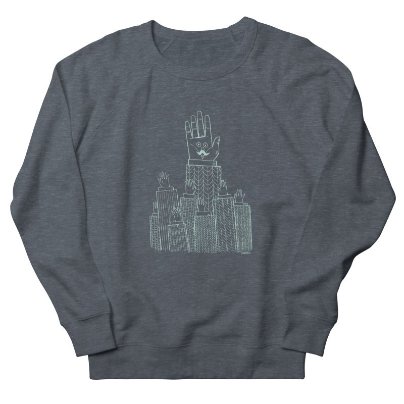 I'M HERE!! (Light Ink For Dark Shirts) Men's French Terry Sweatshirt by Dustin Harbin's Sweet T's!
