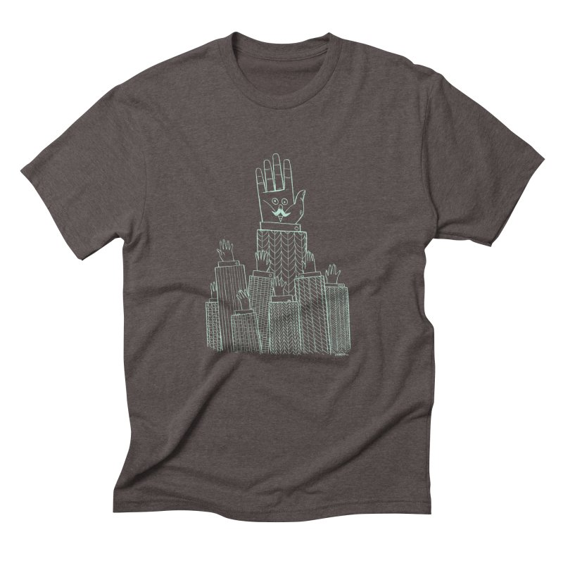 I'M HERE!! (Light Ink For Dark Shirts) Men's Triblend T-Shirt by Dustin Harbin's Sweet T's!