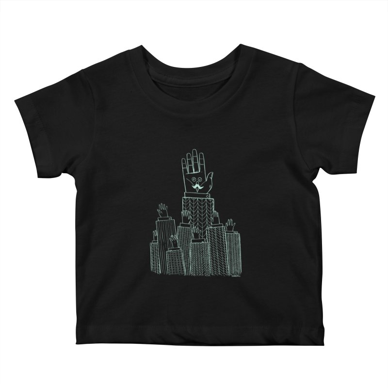 I'M HERE!! (Light Ink For Dark Shirts) Kids Baby T-Shirt by Dustin Harbin's Sweet T's!