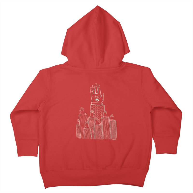 I'M HERE!! (Light Ink For Dark Shirts) Kids Toddler Zip-Up Hoody by Dustin Harbin's Sweet T's!