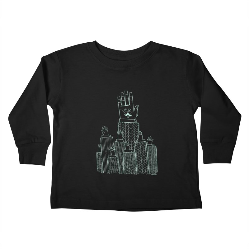I'M HERE!! (Light Ink For Dark Shirts) Kids Toddler Longsleeve T-Shirt by Dustin Harbin's Sweet T's!