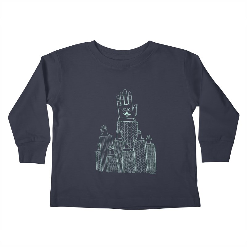 I'M HERE!! (Light Ink For Dark Shirts) Kids Toddler Longsleeve T-Shirt by Dustin Harbin's Sweet T's!